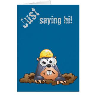 Carte Bande dessinée de creusement de taupe mignonne