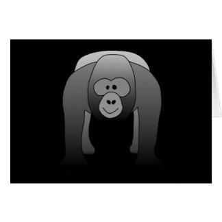Carte Bande dessinée de gorille de Silverback