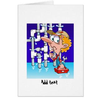 Carte Bande dessinée drôle de plombier personnalisée