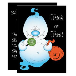 Carte Bande dessinée mignonne de fantôme de Halloween