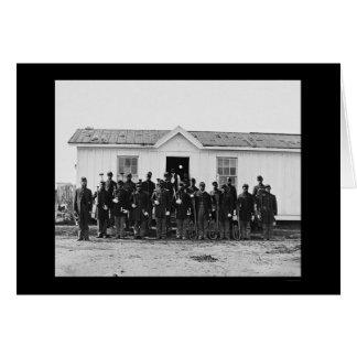 Carte Bande militaire 1865 d'Afro-américain