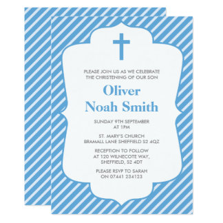 Carte Baptême de bébé/invitation de baptême