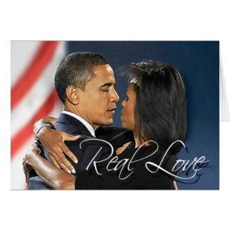 Carte Barack et Michelle - vrai amour