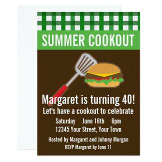 Carte Barbecue d'été