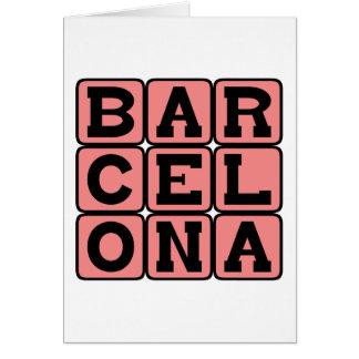 Carte Barcelone, ville en Espagne