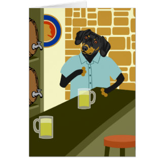 Carte Barillet de baril de bière de Doxie de teckel