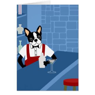 Carte Barman de Boston Terrier