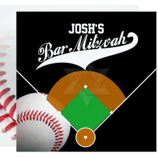 Carte Barre Mitzvah de diamant de base-ball de ✡ de