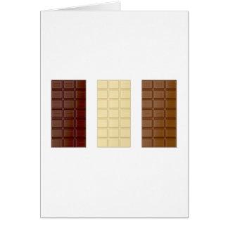 Carte Barres de chocolat