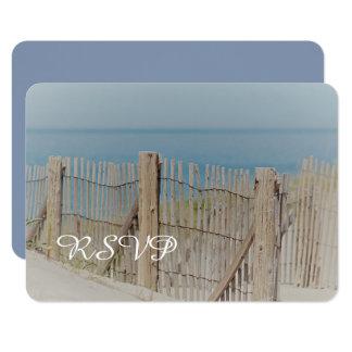Carte Barrière de plage et dune de sable RSVP