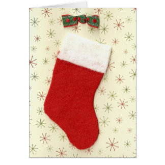 Carte Bas rouge de Noël