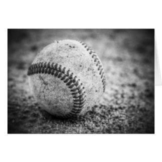 Carte Base-ball en noir et blanc