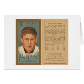 Carte Base-ball rouge 1911 de Murray Giants