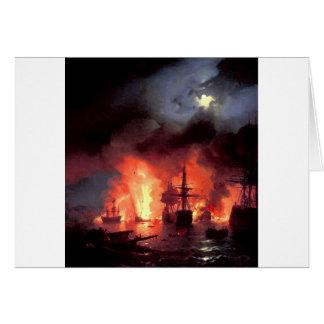 Carte Bataille de Cesme la nuit par Ivan Aivazovsky