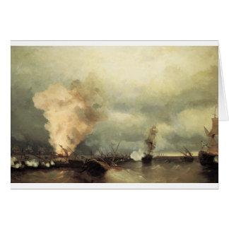 Carte Bataille navale près de Vyborg par Ivan Aivazovsky