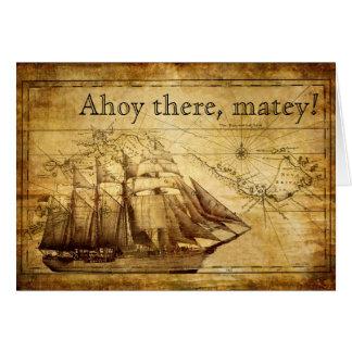 Carte bateau de pirate