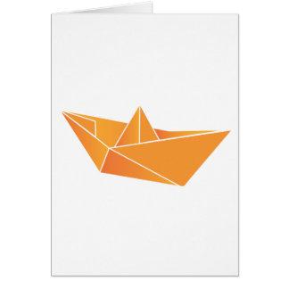 Carte Bateau d'origami