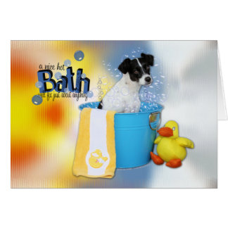 Carte Bath chaud - Rat terrier - Rosco