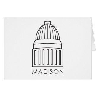 Carte Bâtiment de capitol de Madison le Wisconsin