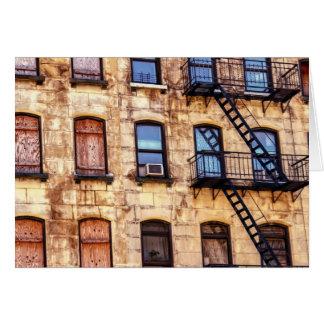 Carte Bâtiment rustique de New York