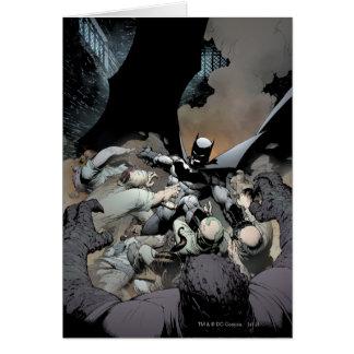 Carte Batman combattant des ennemis de voûte