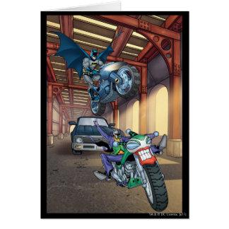 Carte Batman et joker - motos d'équitation