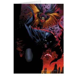 Carte Batman et vol de Robin au-dessus de Gotham