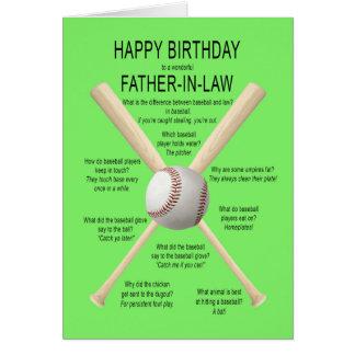 Carte Beau-père, plaisanteries de base-ball