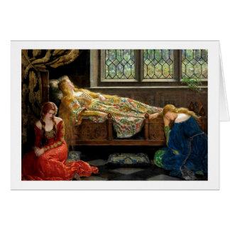 Carte Beauté de sommeil avec ses jeunes filles