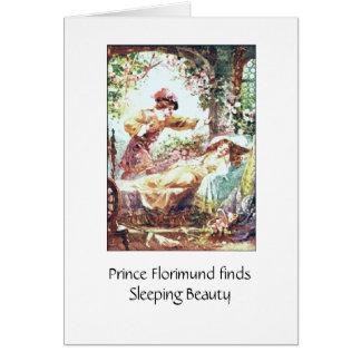 Carte Beauté de sommeil et le prince