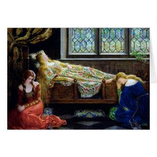 Carte Beauté de sommeil et les jeunes filles