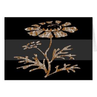 Carte Beauté noire florale gravée par argent de l'or n