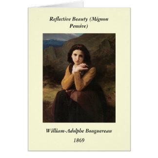 Carte Beauté réfléchie (Mignon songeur) Bouguereau 1869