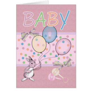 Carte Bébé de félicitations de bébé nouveau