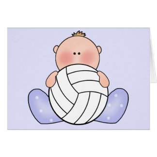 Carte Bébé de volleyball de Lil