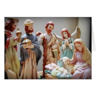 Carte Bébé Jésus de nativité de Noël