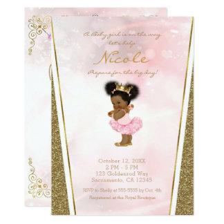 Carte Bébé rose de princesse Vintage Black de parties