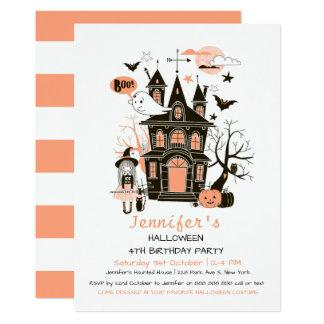 Carte Bel anniversaire de enfant hanté Halloween Invit