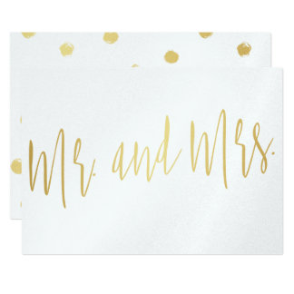 "Carte Bel or ""M. et Mme ""de calligraphie"