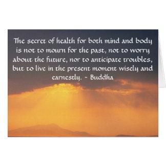 Carte Belle citation bouddhiste avec la photo inspirée