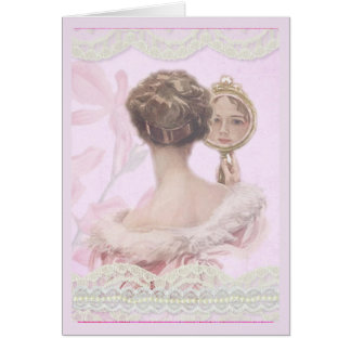 Carte Belle Madame vintage In Pink