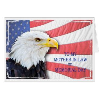 Carte Belle-mère, Jour du Souvenir, avec un aigle chauve
