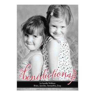 Carte Bénédictions Holiday Photo Cards