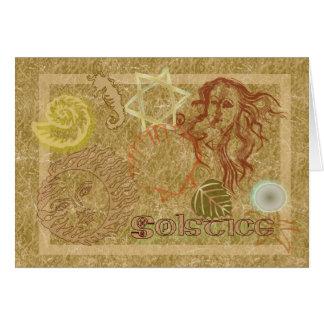 Carte Bénédictions païennes de solstice de déesse
