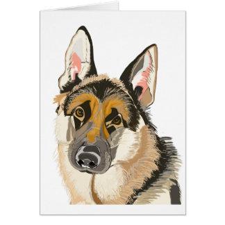 Carte Berger allemand magnifique, dessin de chien
