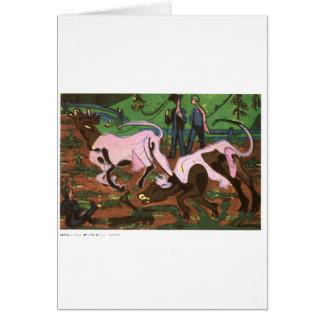 Carte Bétail au printemps par Ernst Ludwig Kirchner