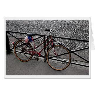 Carte Bicyclette à Paris - masquez à l'intérieur