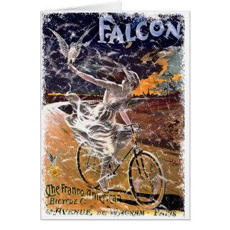 Carte Bicyclette de faucon - affligée