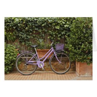 Carte Bicyclette garée, Pienza, Italie, Toscane