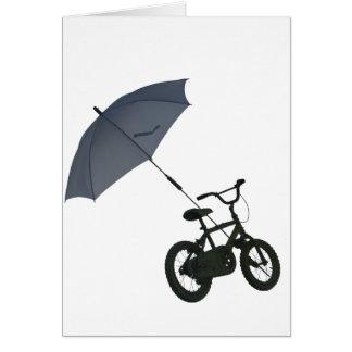 Carte bicyclette + parapluie